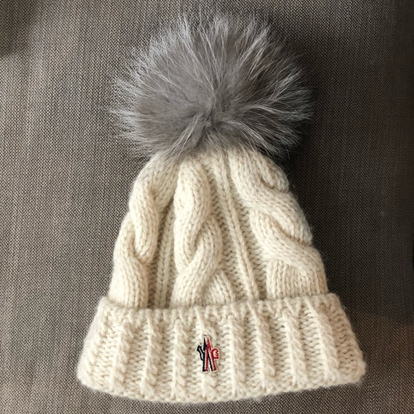 f9bc85232 Moncler Grenoble Wool Fur Cable knit Hat